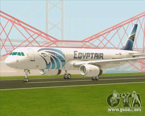 Airbus A321-200 EgyptAir para GTA San Andreas vista posterior izquierda