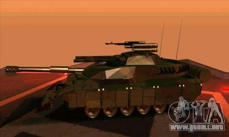 M1A1 Abrams Brawl (Transformers) para GTA San Andreas vista posterior izquierda
