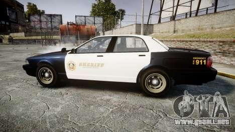 GTA V Vapid Cruiser LSS Black [ELS] Slicktop para GTA 4 left