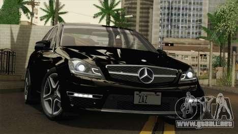 Mercedes-Benz C63 AMG Sedan 2012 para la vista superior GTA San Andreas