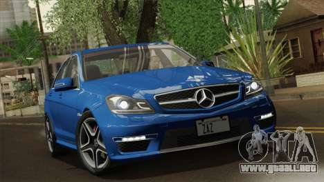 Mercedes-Benz C63 AMG Sedan 2012 para GTA San Andreas