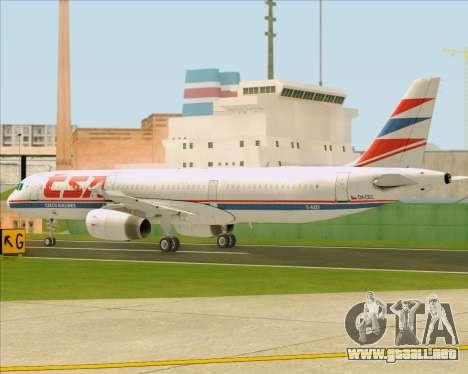 Airbus A321-200 CSA Czech Airlines para la vista superior GTA San Andreas