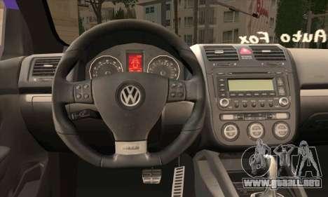 Volkswagen Golf Mk5 GTi Turkish Tuned para GTA San Andreas vista posterior izquierda