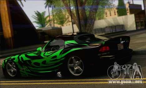 Dodge Viper SRT 10 para GTA San Andreas left