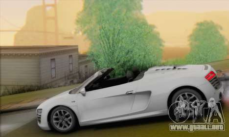Audi R8 V10 Spyder 2014 para GTA San Andreas left