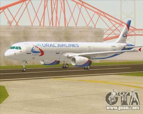 Airbus A321-200 Ural Airlines para visión interna GTA San Andreas