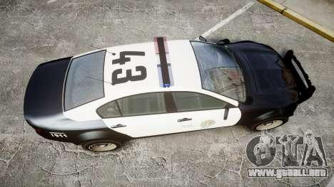 GTA V Cheval Fugitive LS Police [ELS] para GTA 4 visión correcta