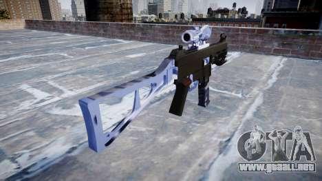 Pistola de UMP45 Azul Tigre para GTA 4 segundos de pantalla