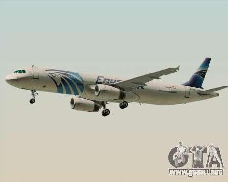 Airbus A321-200 EgyptAir para la visión correcta GTA San Andreas