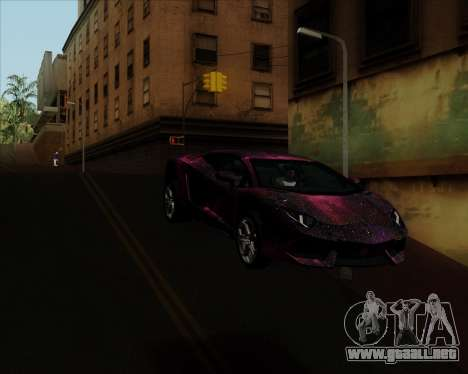 Lamborghini Aventador para vista lateral GTA San Andreas
