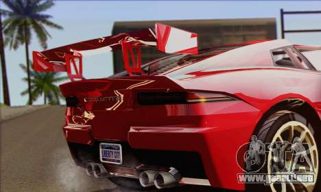 Invetero Coquette (IVF) para GTA San Andreas vista posterior izquierda