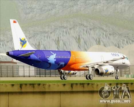 Airbus A321-200 Myanmar Airways International para la vista superior GTA San Andreas