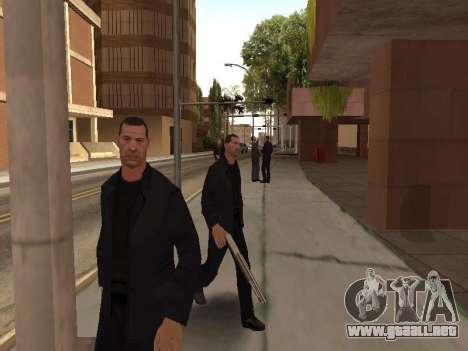 El cambio de las áreas de las pandillas y sus ar para GTA San Andreas quinta pantalla