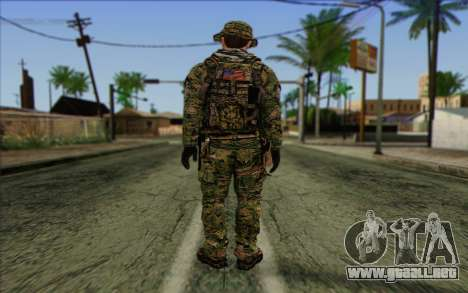 Dusty MOHW from Medal Of Honor Warfighter para GTA San Andreas segunda pantalla