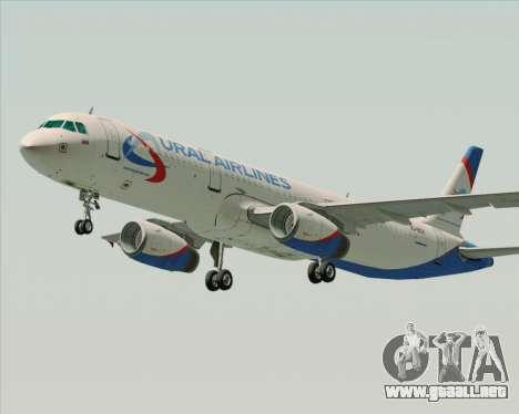 Airbus A321-200 Ural Airlines para GTA San Andreas left