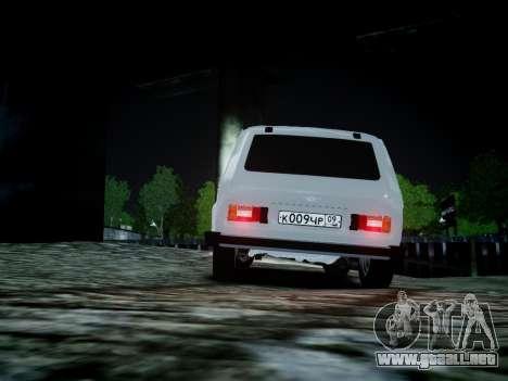 VAZ 2121 para GTA 4 vista hacia atrás