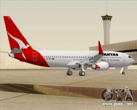 Boeing 737-838 Qantas (Old Colors) para la visión correcta GTA San Andreas