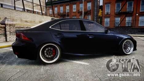Lexus IS 350 F-Sport para GTA 4 left