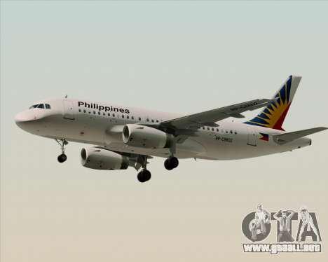 Airbus A319-112 Philippine Airlines para la vista superior GTA San Andreas