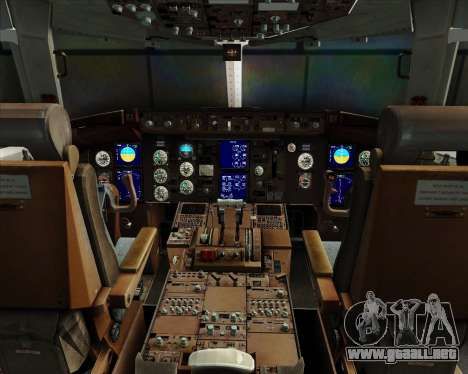 Boeing 767-330ER Condor para GTA San Andreas interior
