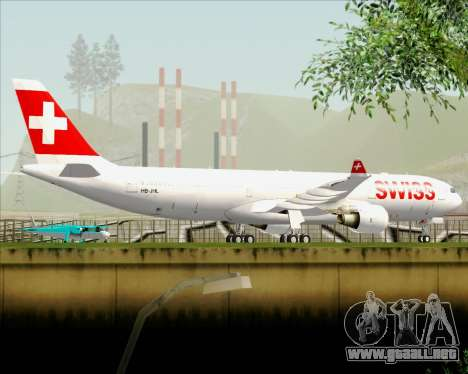 Airbus A330-300X Swiss International Air Lines para vista inferior GTA San Andreas