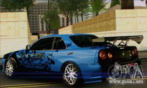 Nissan Skyline R-34 para GTA San Andreas left