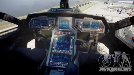 VTOL Warship PJ2 para GTA 4 visión correcta