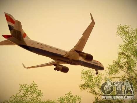 Boeing 757-236 British Airways para visión interna GTA San Andreas