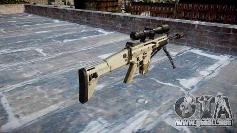 Rifle Mk 17 CICATRIZ-H bípode para GTA 4 segundos de pantalla