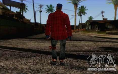 Vagabonds Skin 3 para GTA San Andreas segunda pantalla