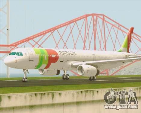 Airbus A321-200 TAP Portugal para visión interna GTA San Andreas