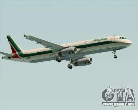 Airbus A321-200 Alitalia para la visión correcta GTA San Andreas