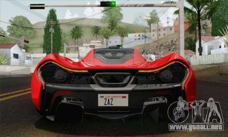 McLaren P1 HQ para visión interna GTA San Andreas