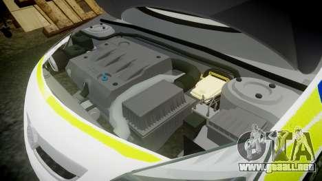 Vauxhall Astra Estate Metropolitan Police [ELS] para GTA 4 vista lateral