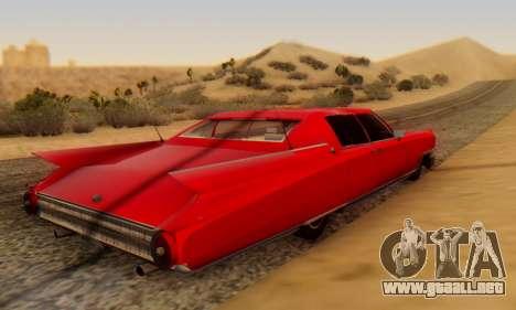 Cadillac Stella II para GTA San Andreas vista posterior izquierda