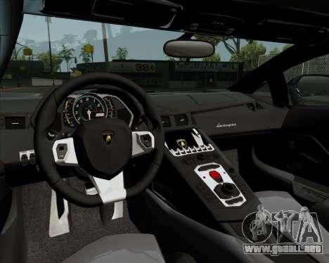 Lamborghini Aventador para visión interna GTA San Andreas