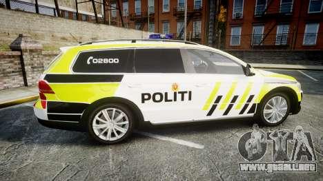 Volkswagen Passat 2014 Marked Norwegian Police para GTA 4 left