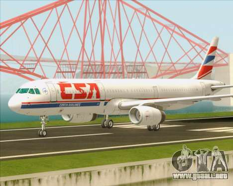 Airbus A321-200 CSA Czech Airlines para visión interna GTA San Andreas