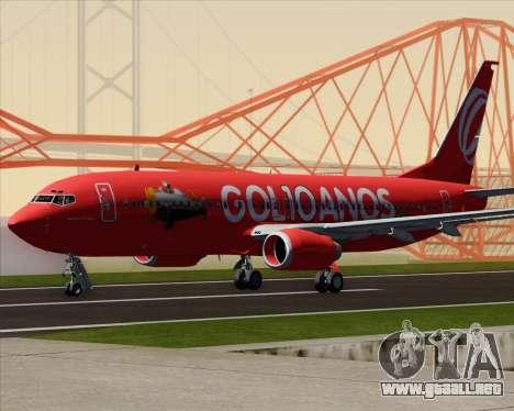 Boeing 737-800 de Gol Transportes Aéreos para GTA San Andreas vista posterior izquierda