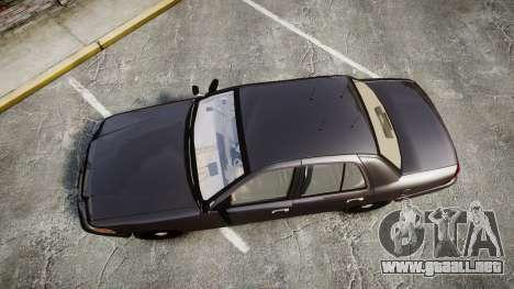 Ford Crown Victoria LASD [ELS] Unmarked para GTA 4 visión correcta
