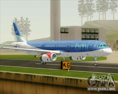 Airbus A321-200 British Midland International para GTA San Andreas left