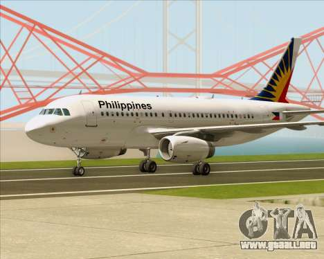 Airbus A319-112 Philippine Airlines para GTA San Andreas left