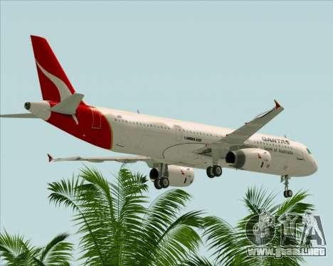Airbus A321-200 Qantas para vista inferior GTA San Andreas
