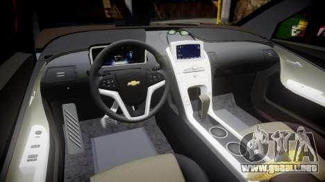 Chevrolet Volt 2011 v1.01 rims1 para GTA 4 vista interior