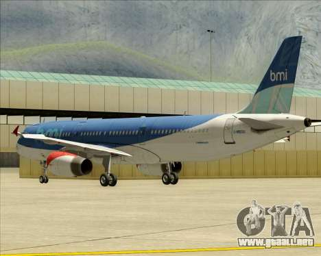 Airbus A321-200 British Midland International para vista inferior GTA San Andreas