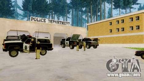 La reactivación de todas las comisarías de polic para GTA San Andreas sucesivamente de pantalla