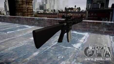 Rifle de M16A4 ACOG para GTA 4 segundos de pantalla
