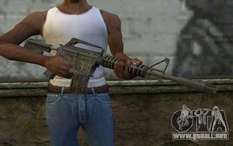 CAR-15 from Battlefield: Vietnam para GTA San Andreas tercera pantalla