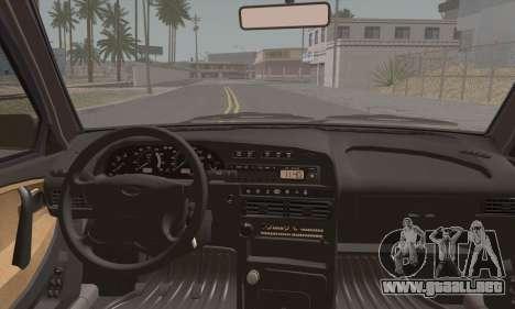 VAZ 2115 para GTA San Andreas vista posterior izquierda