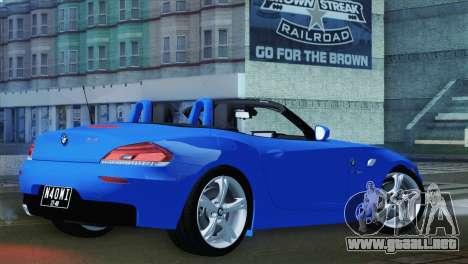 BMW Z4 sDrive28i 2012 Stock para GTA San Andreas left